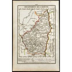 1823 - Carte de l'Ardèche -...