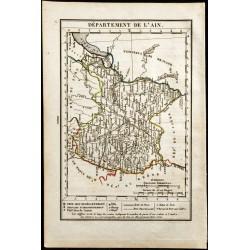 1823 - Carte de l'Ain -...