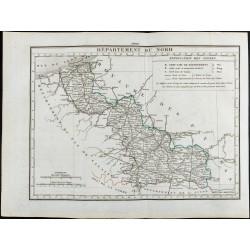 1823 - Carte du Nord -...