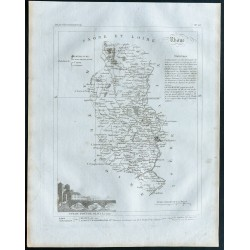 1830 - Carte ancienne du Rhône