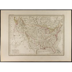 1846 - Carte des États-Unis...