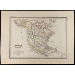 1846 - Carte de l'Amérique...