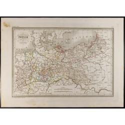 1846 - Carte de la Prusse