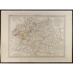 1846 - Carte de l'Allemagne...
