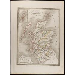 1846 - Carte de l'Écosse
