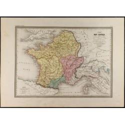 1846 - Carte des Gaules...
