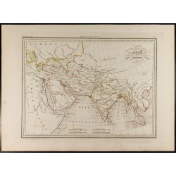 1846 - Carte de l'Asie...