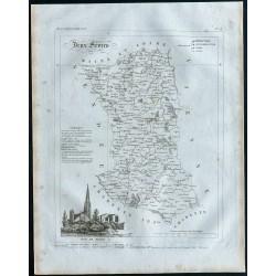 1830 - Carte ancienne des...