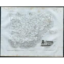 1830 - Carte ancienne du Var