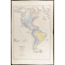 1860 - Carte de l'Amérique...