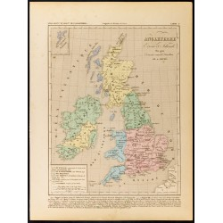 1859 - Carte d'Angleterre...