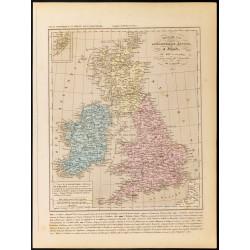 1859 - Carte du Royaume-Uni...