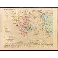 1859 - Carte de la Grèce -...