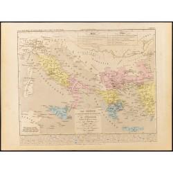 1859 - Carte de Grèce et...