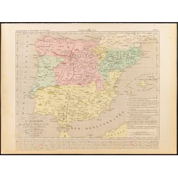 1859 - Carte de l'Espagne...