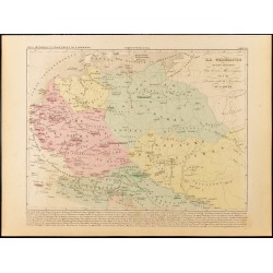 1859 - Carte de la Germanie...