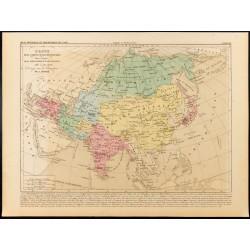 1859 - Carte de l'Asie...