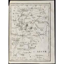 1830 - Aisne - Carte...