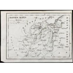 1830 - Basses-Alpes - Carte...