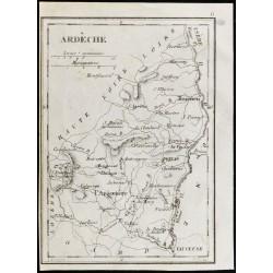 1830 - Ardèche - Carte...