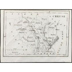 1830 - Creuse - Carte...