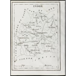 1830 - Indre - Carte...