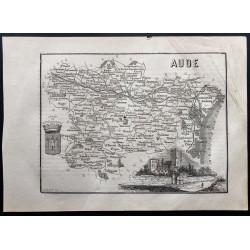 1867 - Département de l'Aude