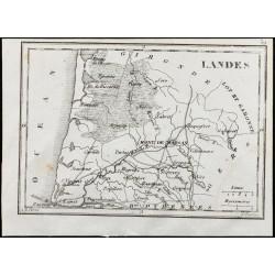 1830 - Landes - Carte...