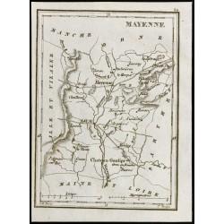 1830 - Mayenne - Carte...