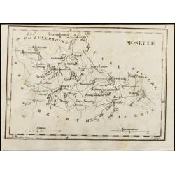 1830 - Moselle - Carte...