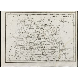 1830 - Puy De Dôme - Carte...