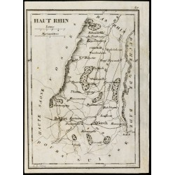 1830 - Haut Rhin - Carte...