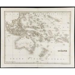 1842 - Carte de l'Océanie -...
