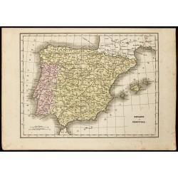 1850 - Carte ancienne de...