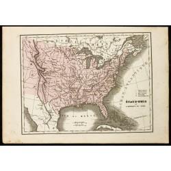 1850 - Carte ancienne des...