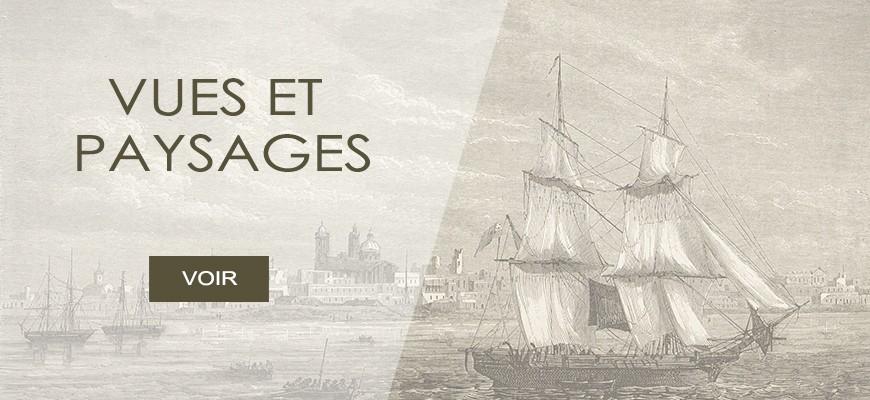 Gravures anciennes du monde (Paysages, vues de ville ...)