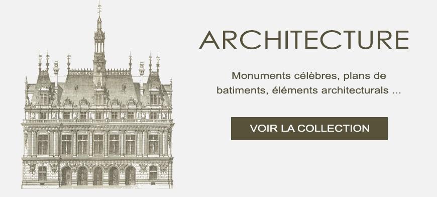 Gravures anciennes d'architecture
